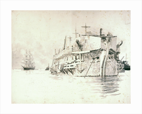 HMS 'Gloucester' and 'Volage' by William Lionel Wyllie