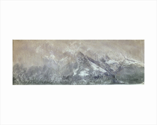 Snow on the Mountains by William Lionel Wyllie