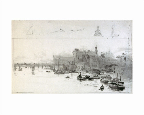 View towards Cannon Street Station from the East by William Lionel Wyllie