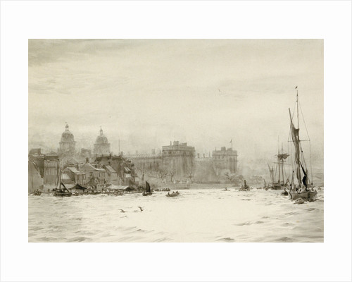 Shipping in Greenwich Reach by William Lionel Wyllie