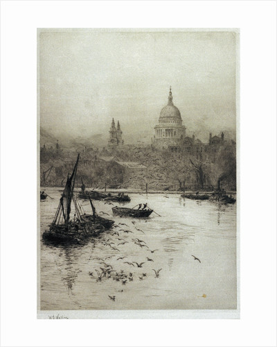 St Paul's from the South Bank by William Lionel Wyllie