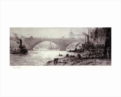 London Bridge, circa 1925 by William Lionel Wyllie