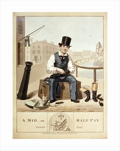 A mid on half pay. Tower Hill by C. Hunt