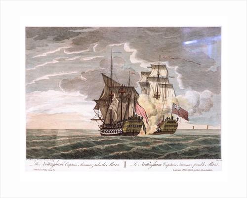 The Nottingham Captain Saumarez takes the 'Mars' by Peter Monamy