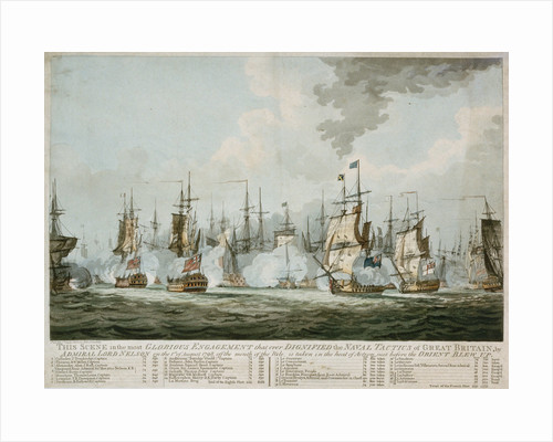 The Battle of the Nile, 1 August 1798 by S.W. Fores