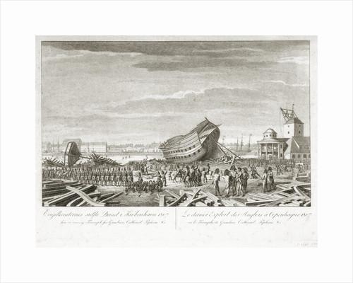 The Battle of Copenhagen, 1807 by unknown