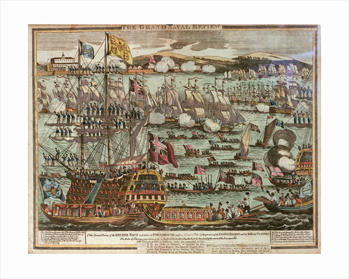'The Grand Naval Review. This Grand Review of the British Navy took place at Portsmouth on June 24th and 25th 1814 in the presence of the Prince Regent and his Royal Visitors by unknown
