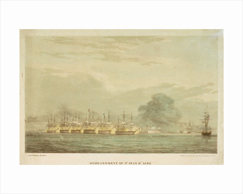 Bombardment of St. Jean d'Acre 3 November 1840 by R.F. Stopford