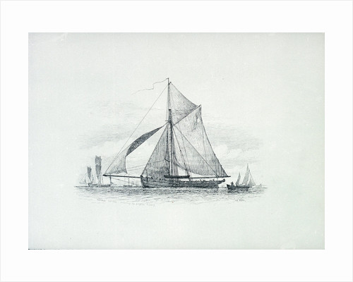 Revenue cutter protecting the Brighton Fishery by Richard Henry Nibbs