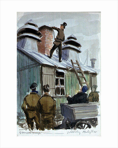 German chimney sweep at Marlag 'O' prisoner-of-war camp by John Worsley
