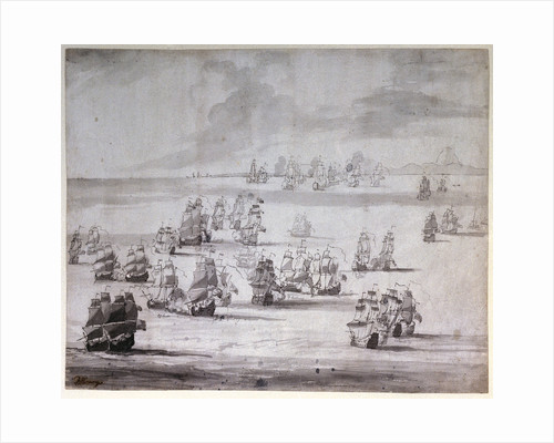 The Battle of Cape Passaro, 11 August 1718 by Peter Monamy
