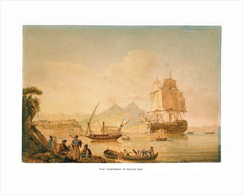 The 'Victory' in Naples Bay, 25 June 1804 by Nicholas Pocock