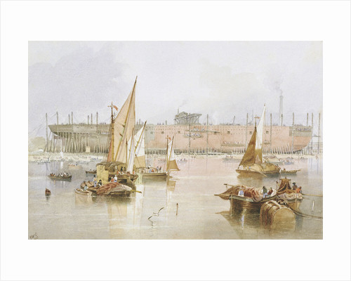 The building of the 'Great Eastern', 1857 by John Wilson Carmichael