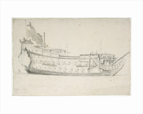 The 'Royal Charles' formerly 'Naseby' by Willem van de Velde the Elder
