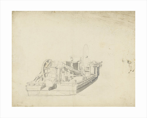 Study of a dredger by Willem Van de Velde the Younger