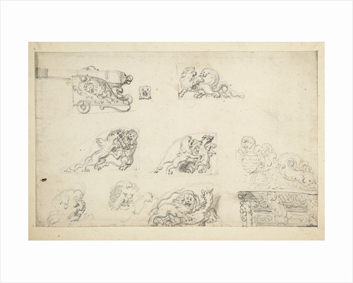 Decoration for a gun carriage by Willem Van de Velde the Younger