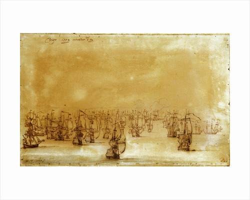 The action at Vigo from the westward by Willem Van de Velde the Younger