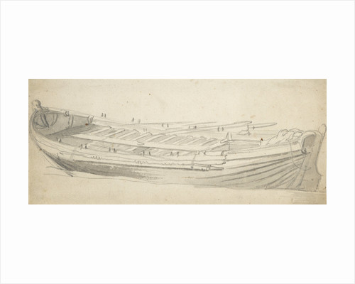 Study of a ship's barge by Willem van de Velde the Elder