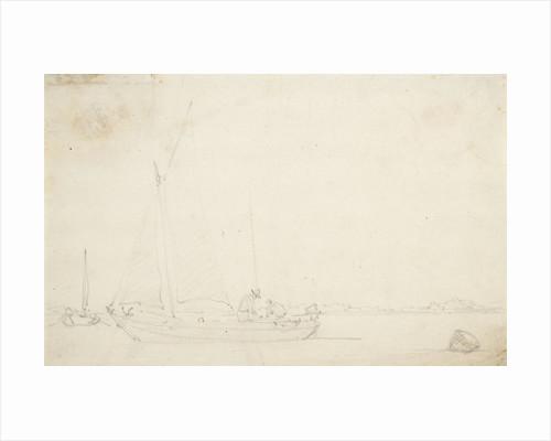 A kaag becalmed by Willem Van de Velde the Younger