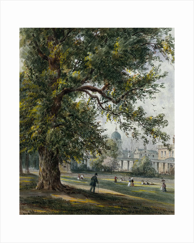Greenwich Hospital from the park, June 1855 by Thomas Hosmer Shepherd