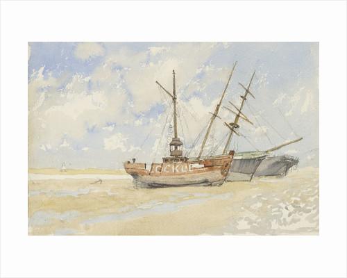 The lightship 'Cockle' near Great Yarmouth, circa 1890 by Nelson Dawson
