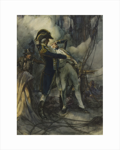 Nelson severely wounded at the Battle of the Nile, 1798 by Arthur David McCormick