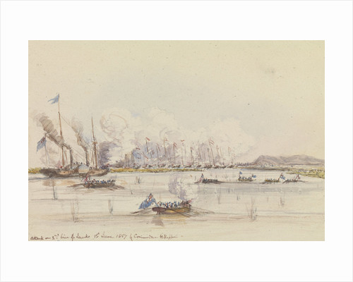 The action in Fatshan Creek by Oswald Walter Brierly