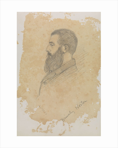 Portrait sketch of bearded man, inscribed 'Brinsley Norton' by John Brett