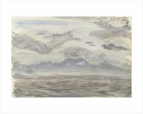 Seascape with cloudy sky by John Brett