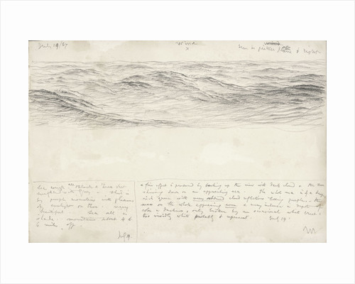 Sketch of sea with shallow waves by John Brett
