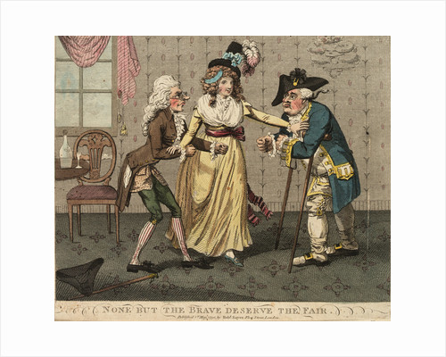 None but the Brave Deserve the Fair by Isaac Cruikshank