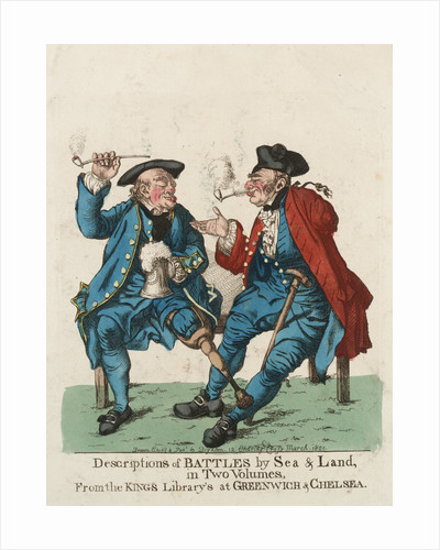 'Descriptions of Battles by Sea & Land, in Two Volumes, From the Kings Library's at Greenwich & Chelsea' [Pensioners] by Dighton