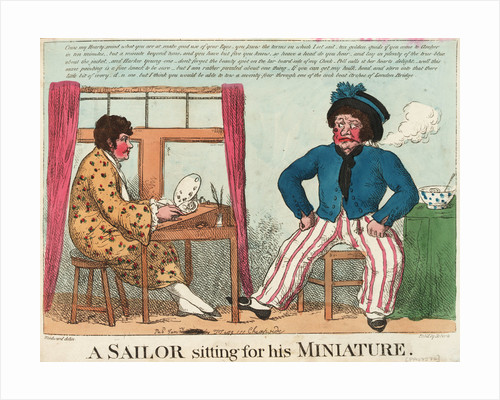A Sailor Sitting for his Miniature by George M. Woodward