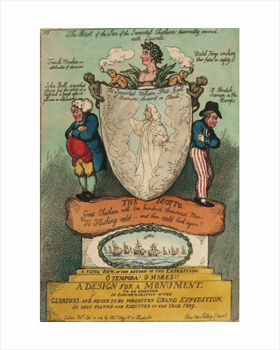 A Design for a Monument To be erected in commemoration of the... Grand Expidition... 1809 (Flushing) by Thomas Rowlandson