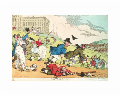 Bath Races by Thomas Rowlandson