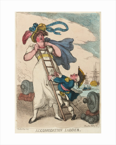 Accommodation ladder by Thomas Rowlandson