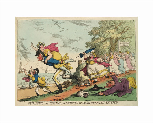 Defrauding the Customs, or shipping of Goods not Fairly Entered by Thomas Rowlandson