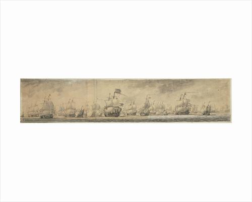 View of Dutch fleet by Willem van de Velde the Elder