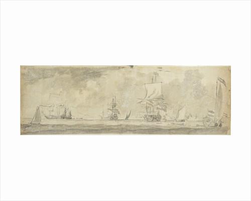 Dutch vessels at sea by Willem van de Velde the Elder