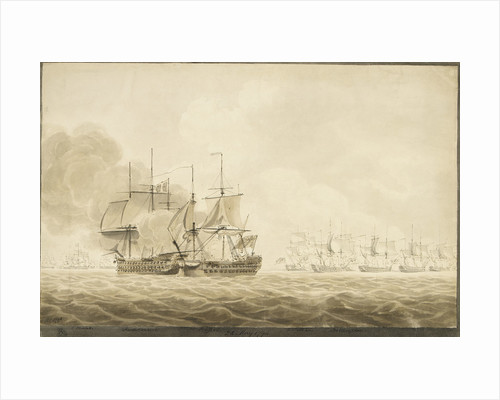 Battle of Ushant, 1794 by Robert Cleveley