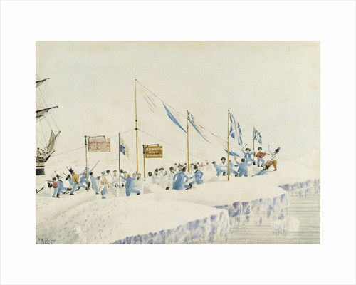 Bringing in the year 1842 (Crews of 'Erebus' and 'Terror') by J.E. Davis