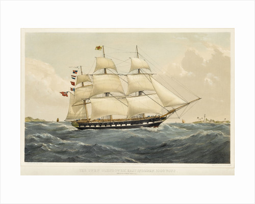 The East Indiaman 'Owen Glendower' by Thomas Goldsworth Dutton