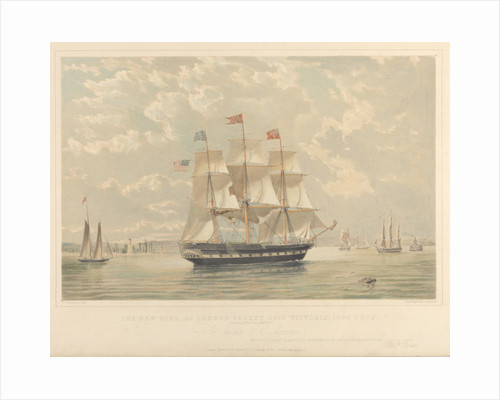 The New York and London Packet ship Victoria by Thomas Goldsworth Dutton