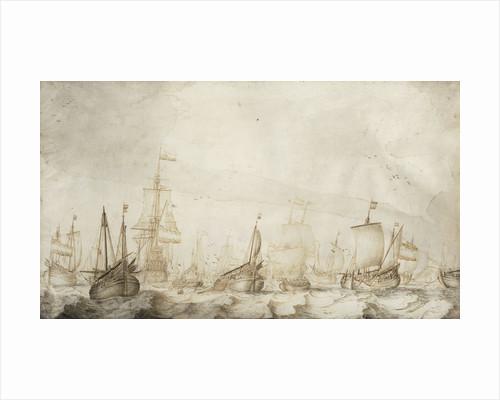 Dutch herring busses on the fishing ground by Willem van de Velde the Elder