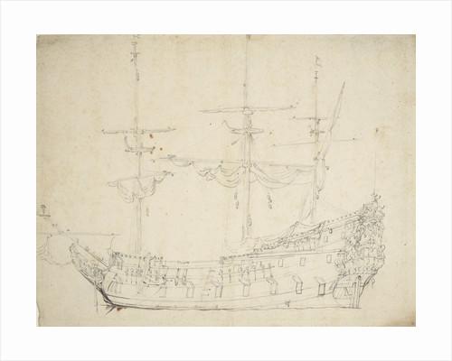 Portrait of a Dutch frigate by Willem Van de Velde the Younger