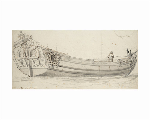 Portrait of the 'Charles' (?), yacht by Willem Van de Velde the Younger