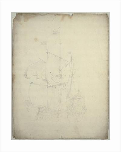Portrait of the 'Gorinchem'? by Willem Van de Velde the Younger