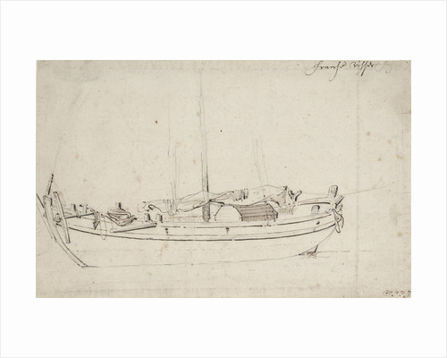 Study of a French fishing boat by Willem Van de Velde the Younger