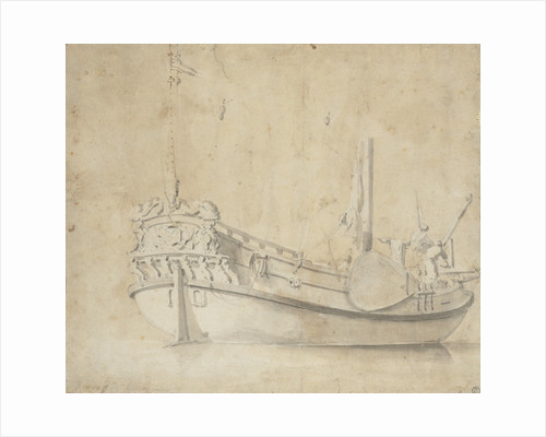 Portrait of a Dutch yacht by Willem Van de Velde the Younger