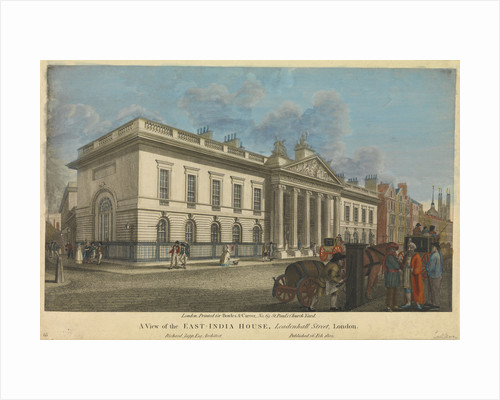 A view of the East-India House, Leadenhall Street by Bowles & Carver